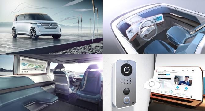 폭스바겐은 자동차에서 스마트 가전을 제어하는 기술을 제시했다. 파트너는 LG전자다.  - Volkswagen 제공